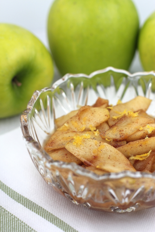 Brown sugar amp cinnamon cooked apples recipe spoon and chair